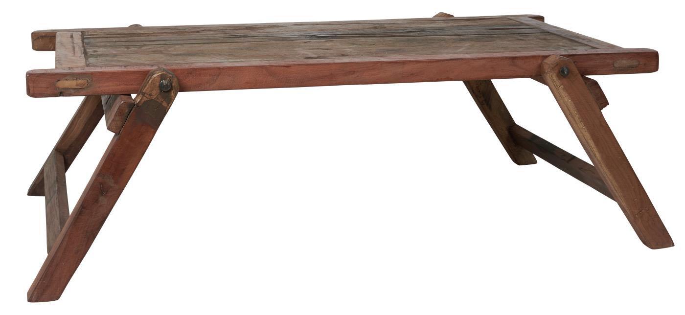 IB LAURSEN Unika sofabord - genbrugt træ, m. skrå ben