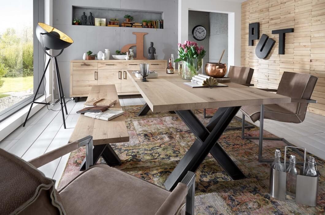 bodahl Bodahl woodstock plankebord - bianco eg, m. udtræk (2-delt bordplade) 220 x 100 cm x-ben på boboonline.dk