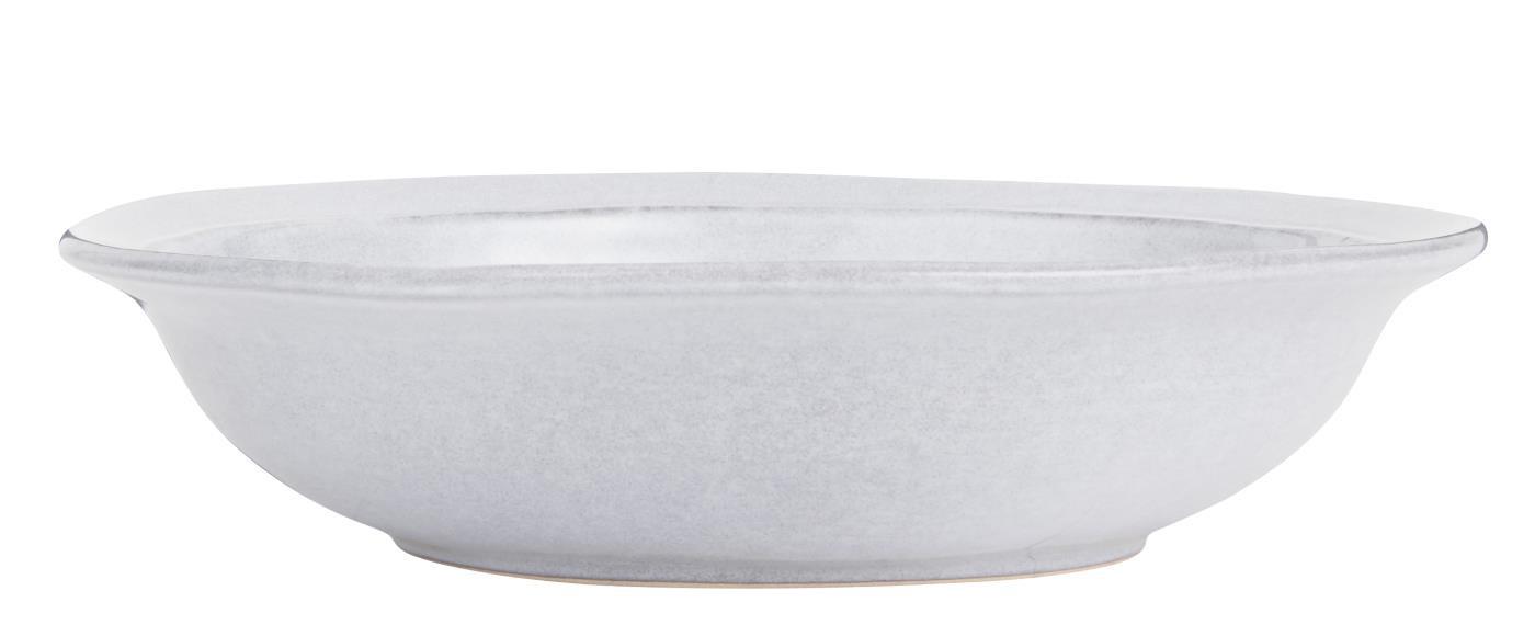 IB LAURSEN dyb tallerken - gråt stentøj