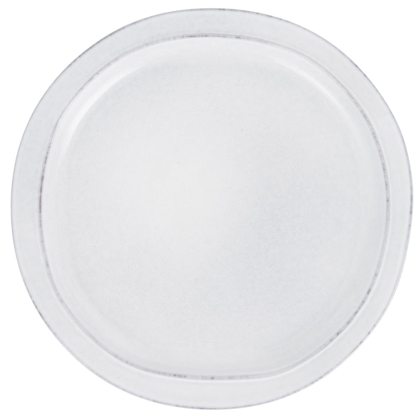 IB LAURSEN middagstallerken - gråt stentøj