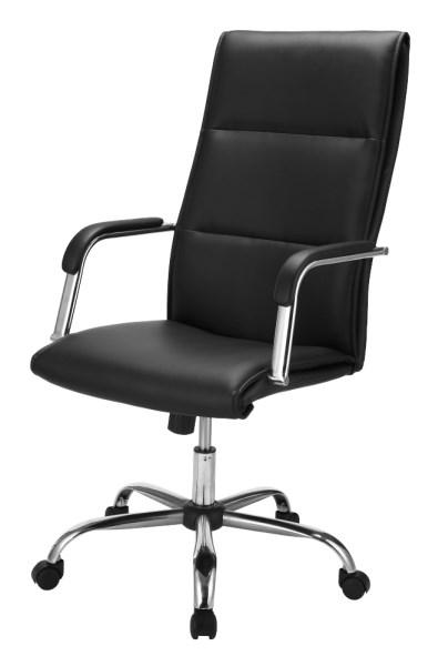 Billede af MALAGA sort kontorstol med armlæn