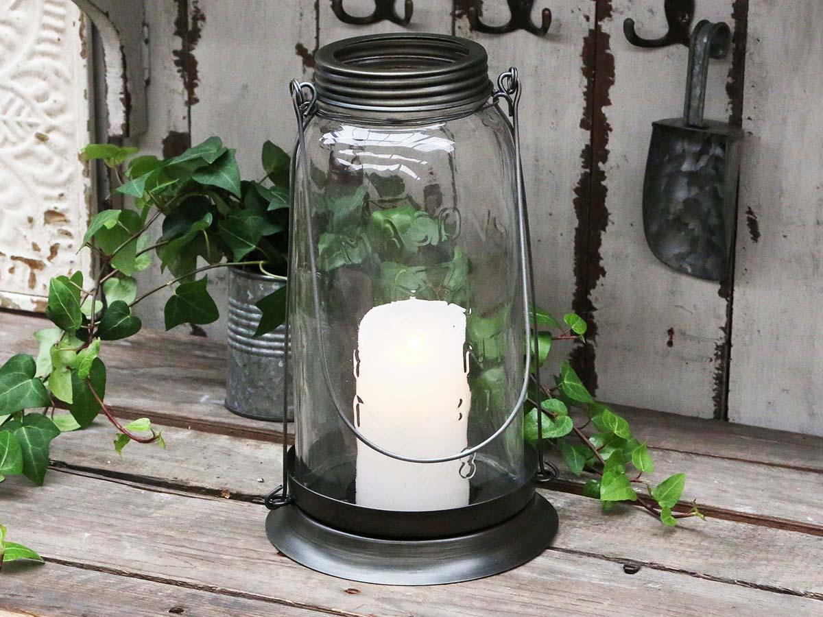 Billede af Chic Antique Gl. fransk Lanterne glas