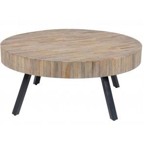 CANETT Løkken sofabord valnød finér og sort træ, m. låg
