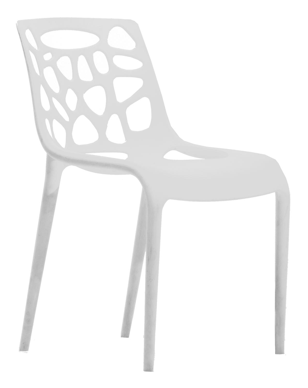 RGE Garden spisebordsstol - hvid plastik thumbnail
