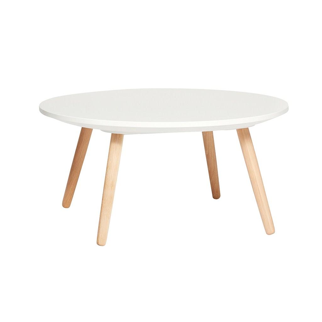 HÜBSCH Rundt bord, egetræ/hvid