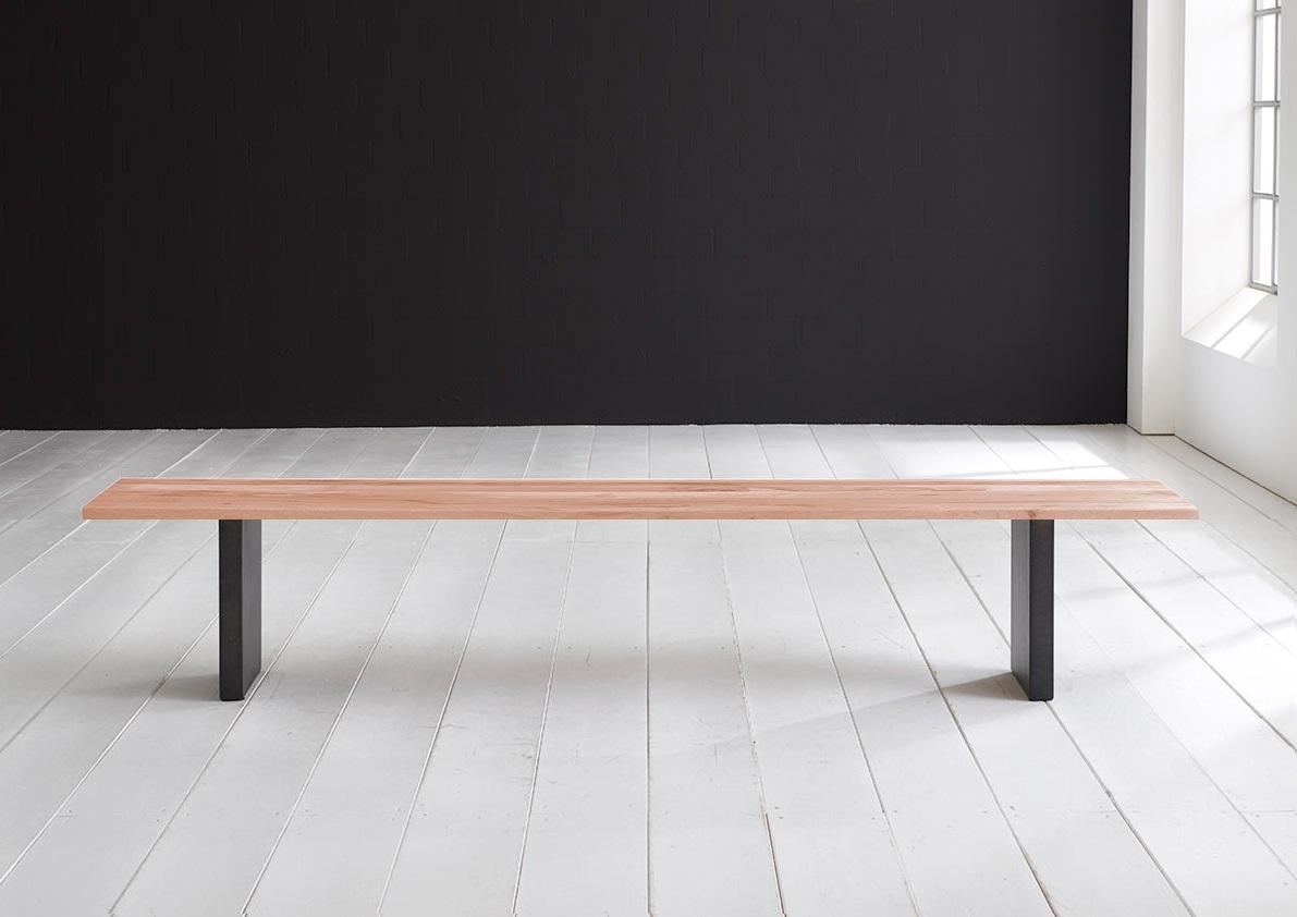 Concept 4 You Spisebordsbænk - T-Ben 240 x 40 cm 3 cm 03 = white wash