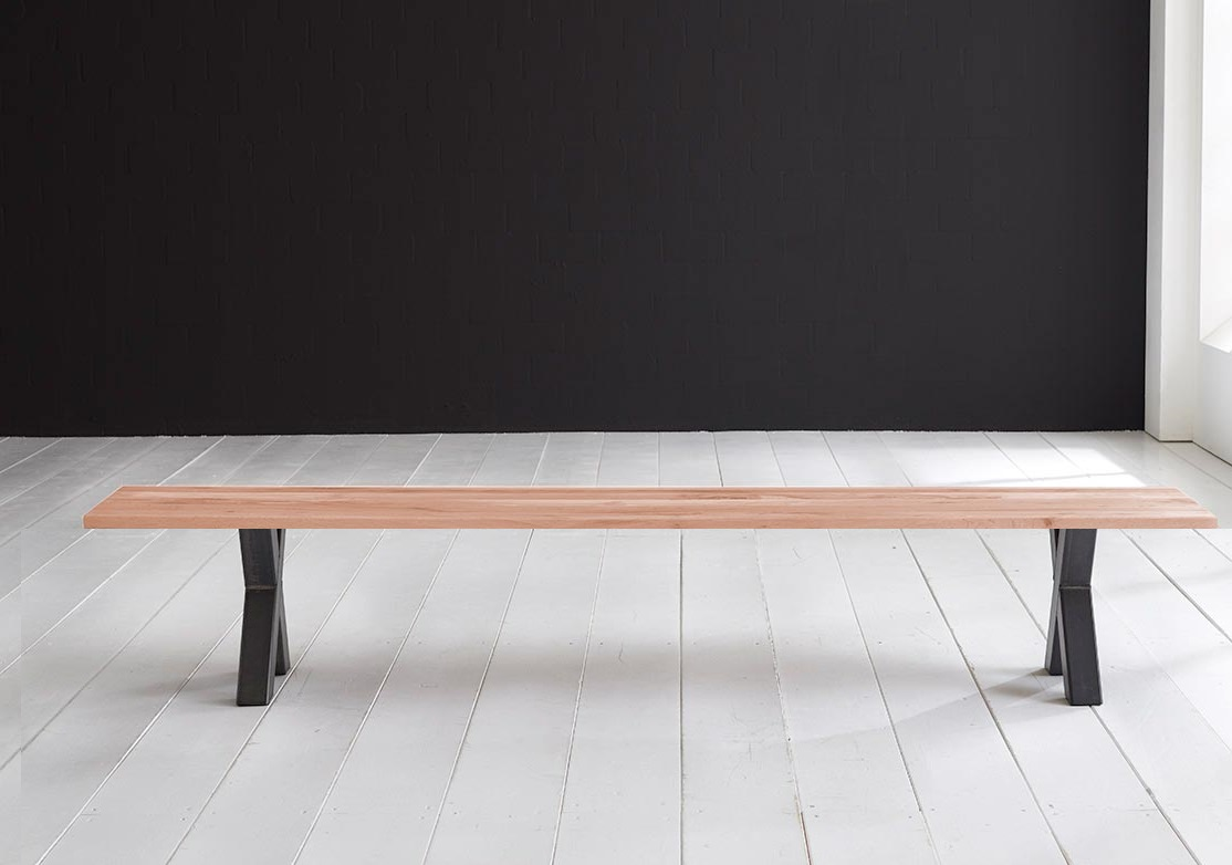 Concept 4 You Spisebordsbænk - Freja ben 240 x 40 cm 3 cm 03 = white wash