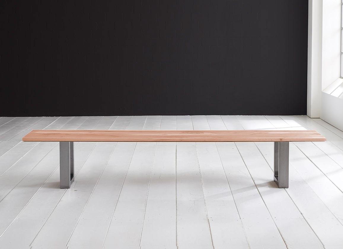 Concept 4 You Spisebordsbænk - Manhattan ben 180 x 40 cm 3 cm 03 = white wash