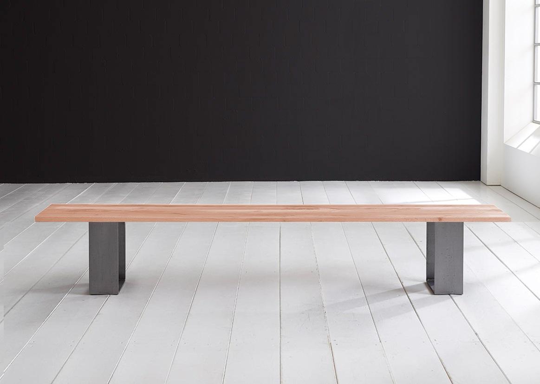 Concept 4 You Spisebordsbænk - Houston ben 220 x 40 cm 3 cm 03 = white wash