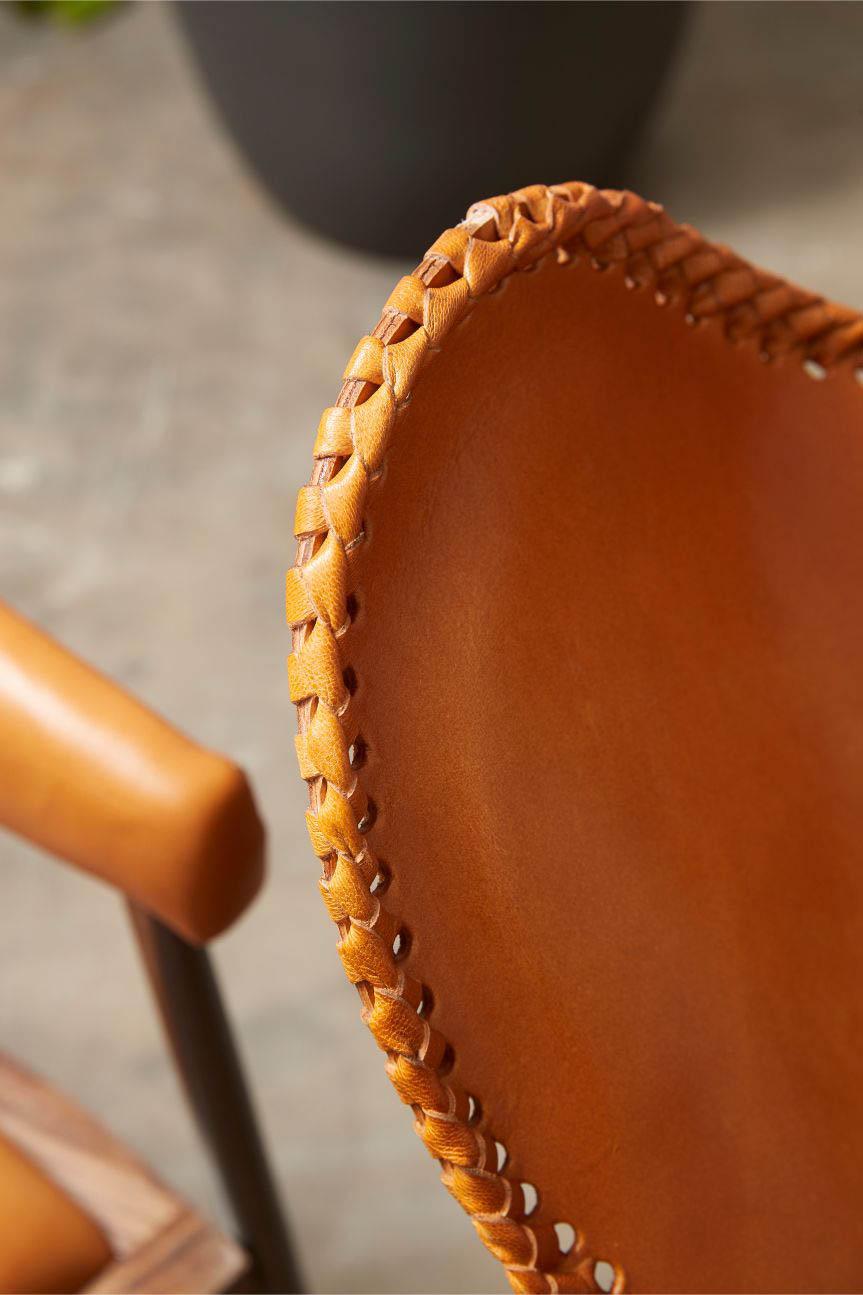 FUHRHOME Amazon butterfly stol, cognac, ægte læder Unika