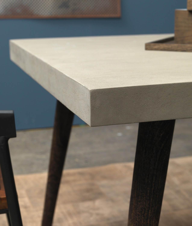 FUHRHOME Boston Spisebord, beton, massive træben (200x100