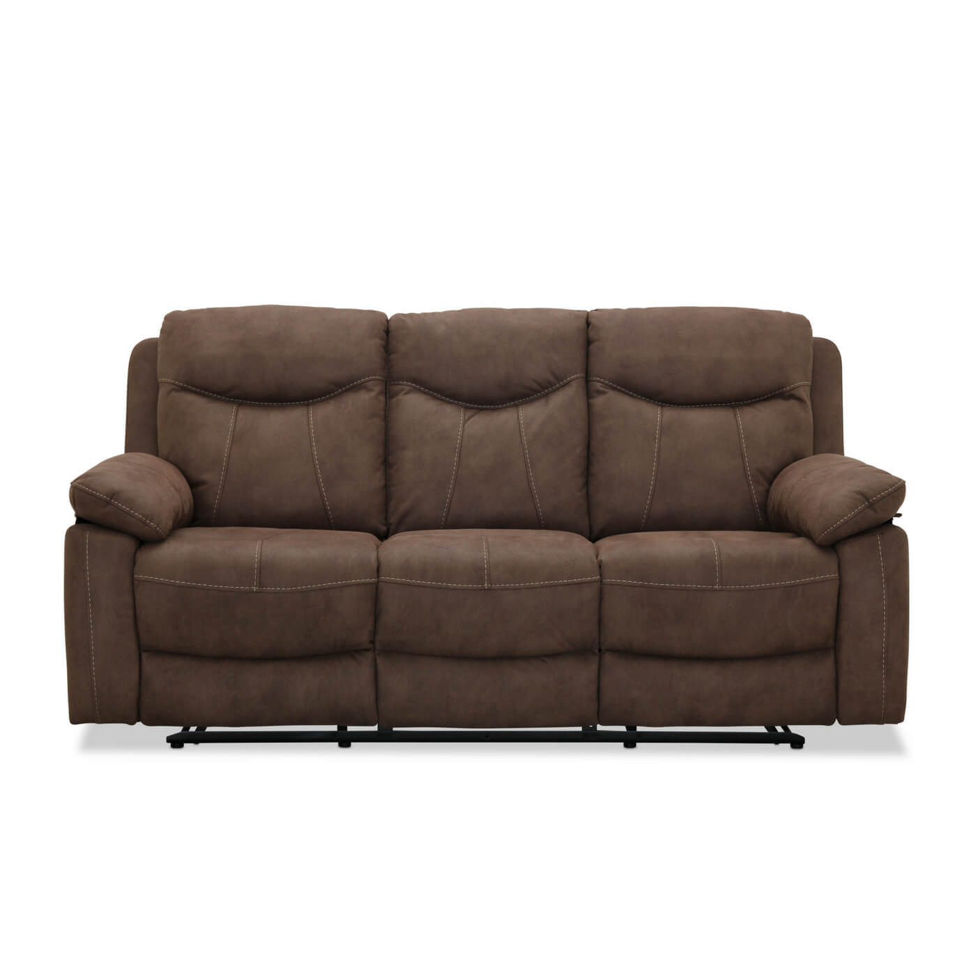 Image of   Boston recliner 3 personers Biograf sofa, Brun stof
