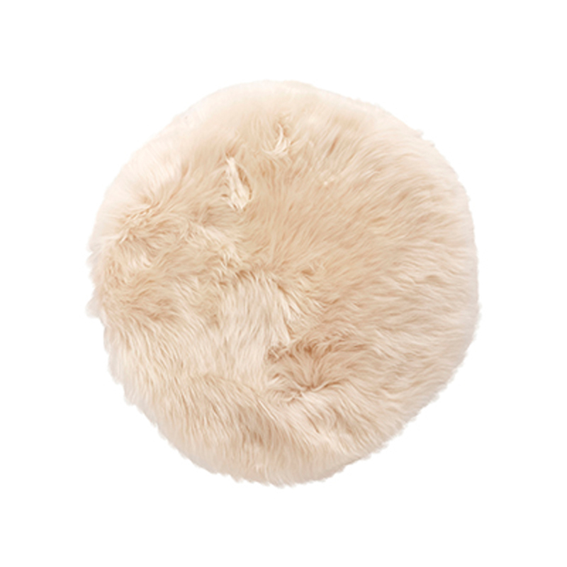 H?bsch stolehynde - hvid, korthåret (ø 38) fra hübsch fra boboonline.dk