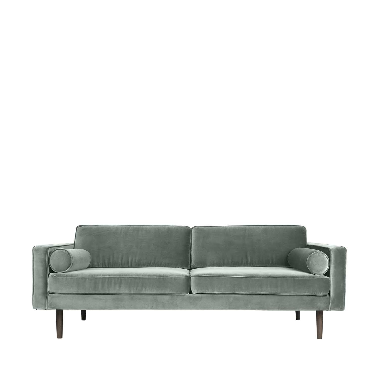 BROSTE COPENHAGEN Wind sofa - grøn polyester velour