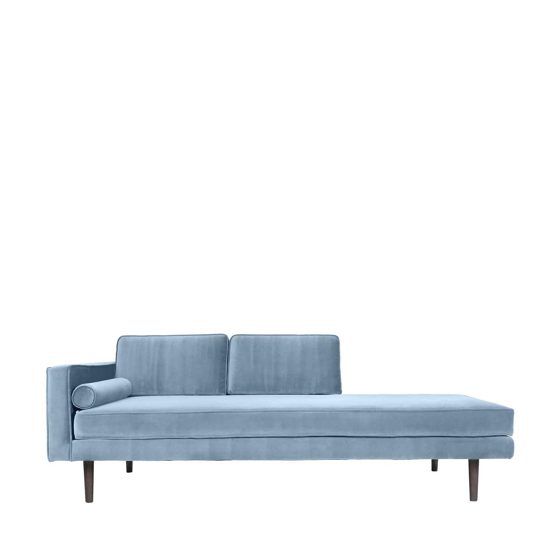 BROSTE COPENHAGEN Wind chaiselong - blå polyester