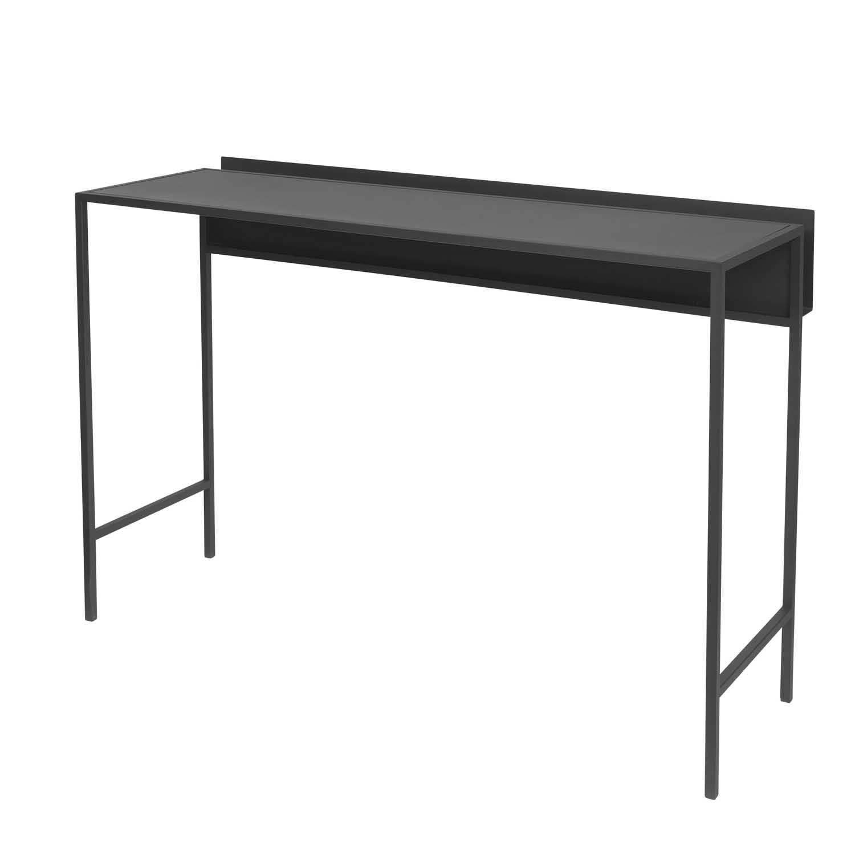 BROSTE COPENHAGEN Fredo konsolbord - sort stål, rektangulær (110x38)