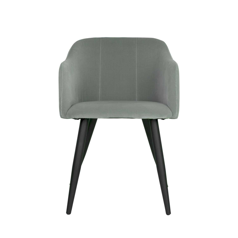 BROSTE COPENHAGEN Pernilla spisebordsstol - grøn polyester, m. armlæn