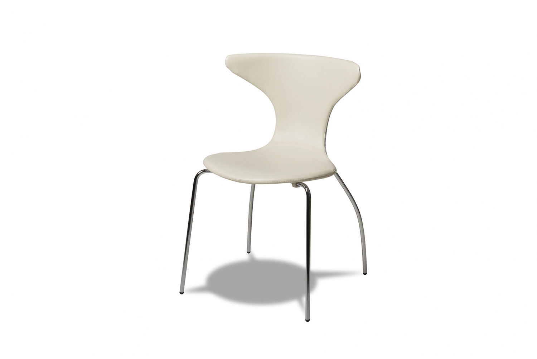 Suki spisebordsstol - hvid kunstlæder