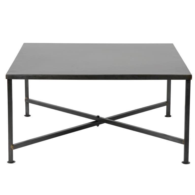 FURBO sofabord – sort nikkel, 80×80