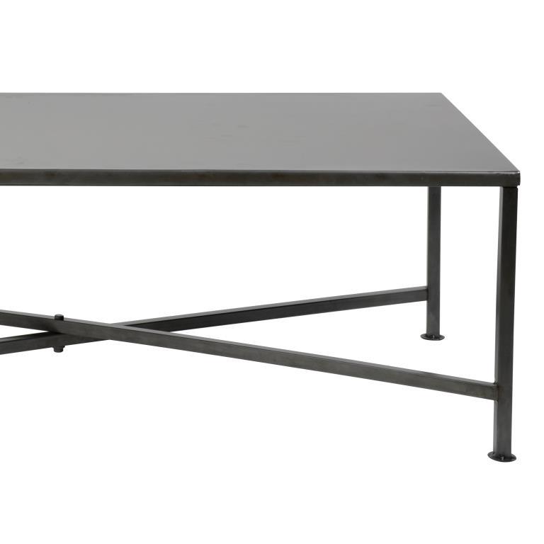 FURBO sofabord – sort nikkel, 120×60