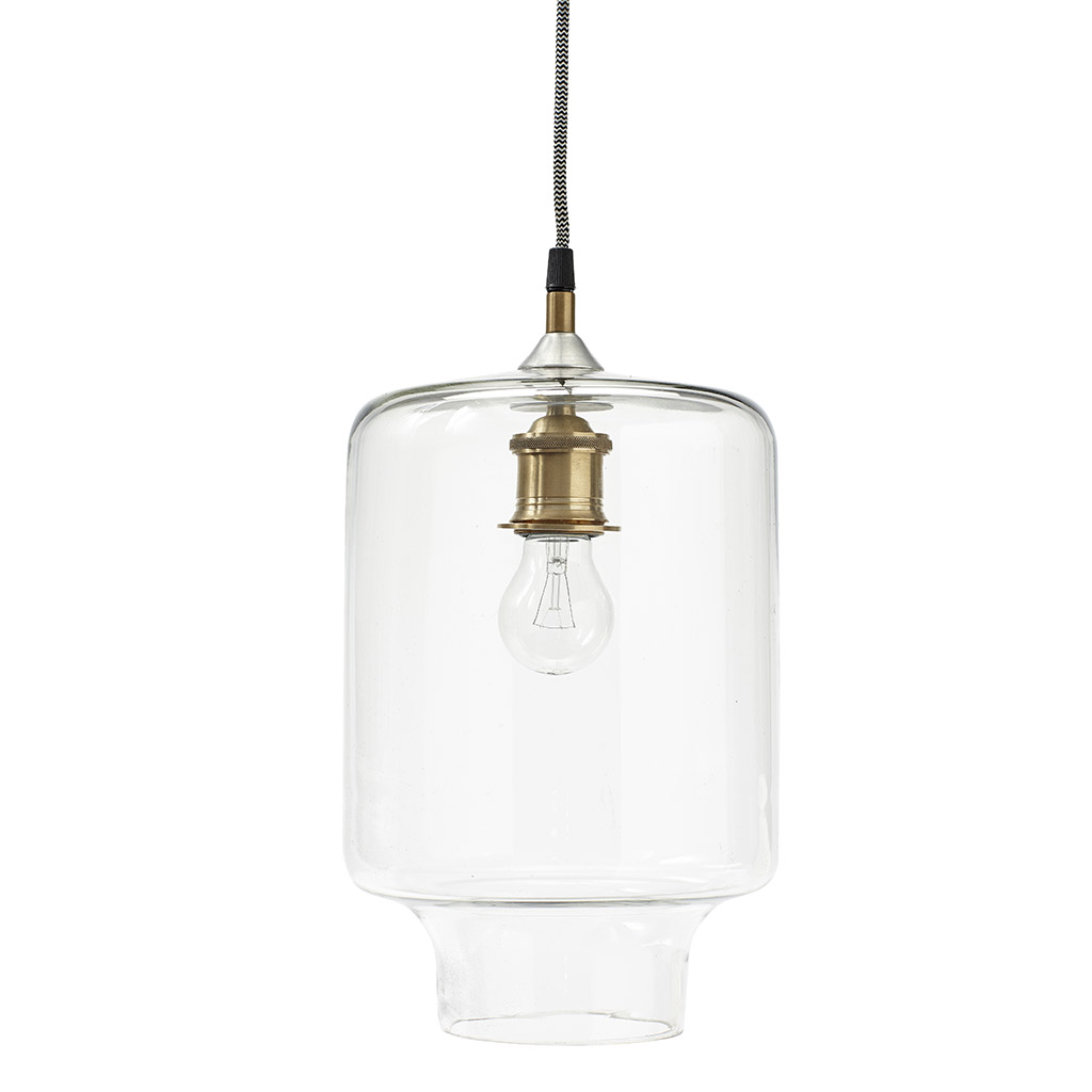 Image of   HÜBSCH Lampe, glas/messing