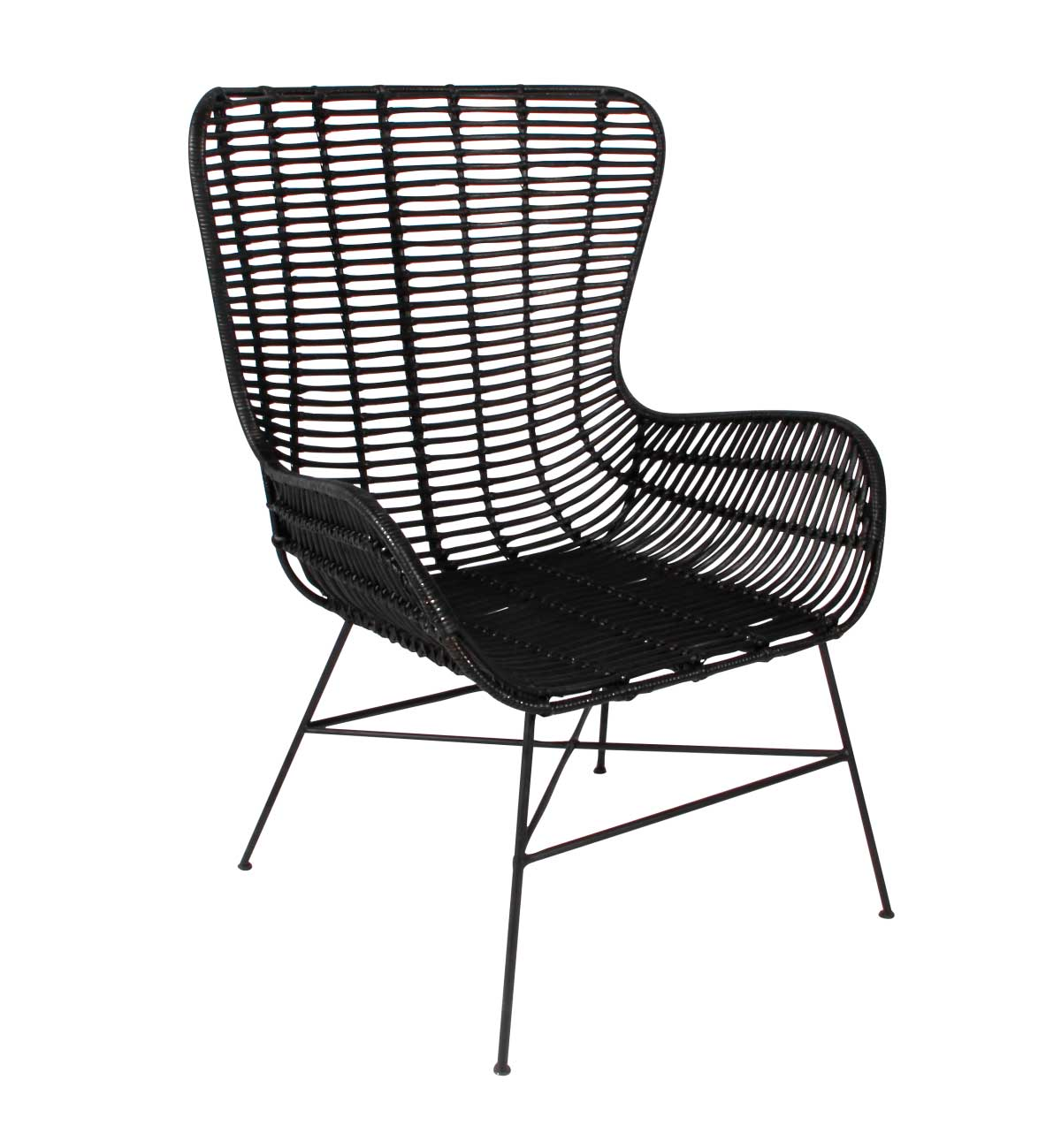 Image of   Opus stol, sort rattan