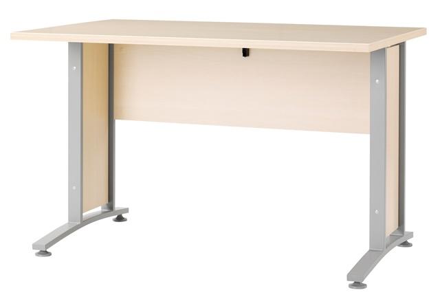 Prima skrivebord - hvid/sort/eg Hvid