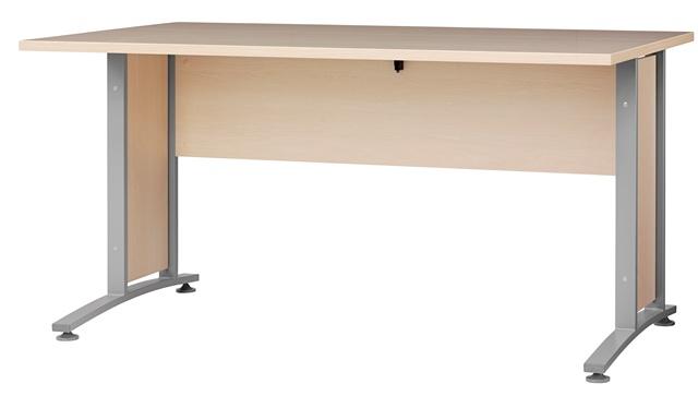 Prima skrivebord - Sort/eg/natur træ Hvid