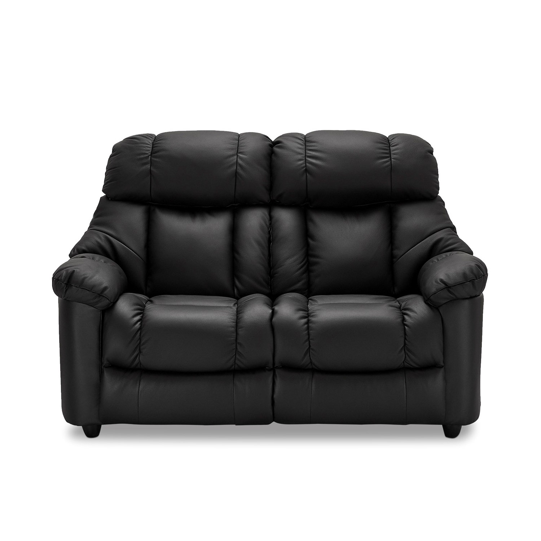 Malmø 2 pers. sofa - sort læder