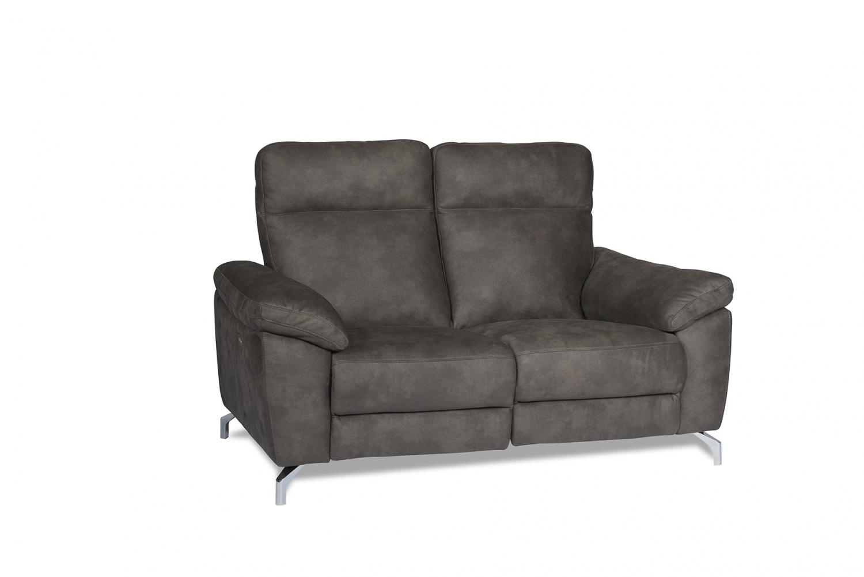 Selesta sofa – gråt stof, m. høj ryg, 2 personerns