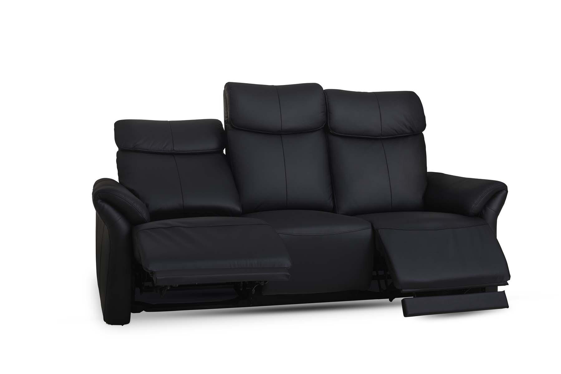 Luxor 3 pers. sofa - sort læder