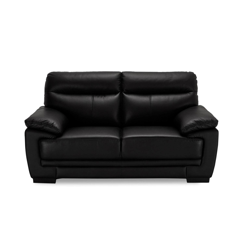 Siena 2 pers. sofa - sort læder