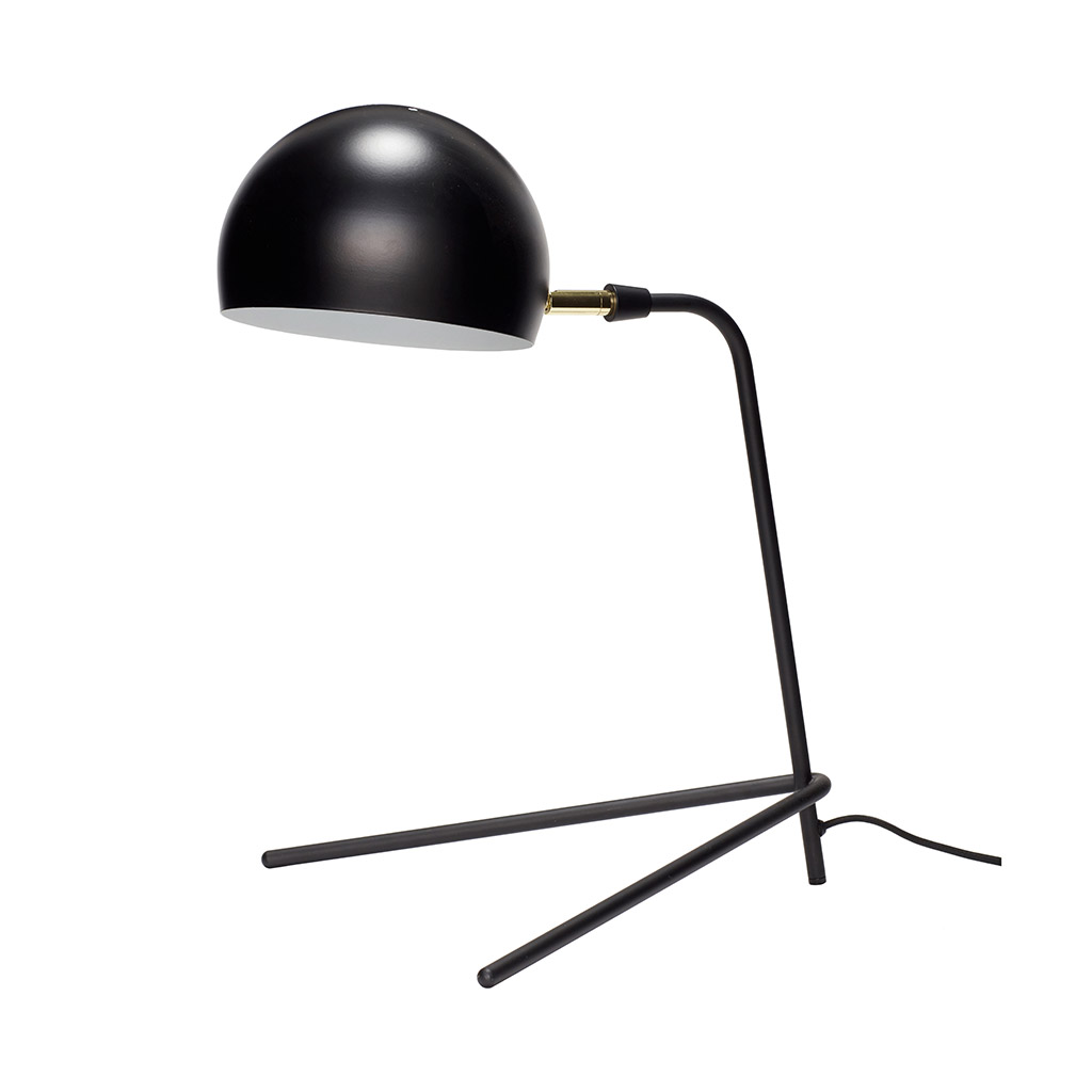 Billede af HÜBSCH Bordlampe i metal, sort