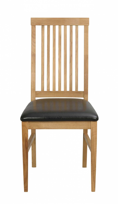 Kansas spisebordsstol - eg/sort kunstlæder