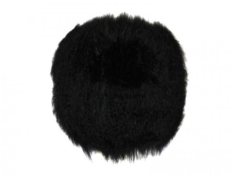 Billede af Tibetan skindhynde, rund, sort
