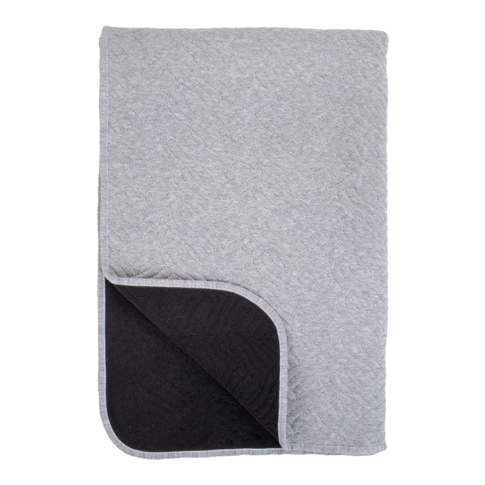 house nordic – House nordic ribe plaid - grå/sort polyester, rektangulær (180x130) på boboonline.dk