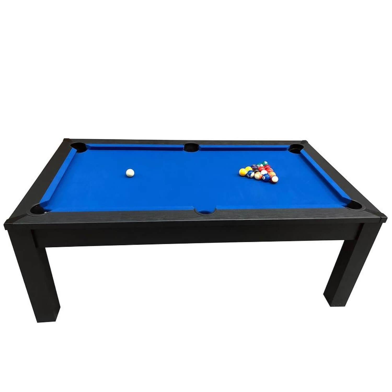 Riley challenger 7 fods poolbord - sort asketræsfinér/blåt klæde