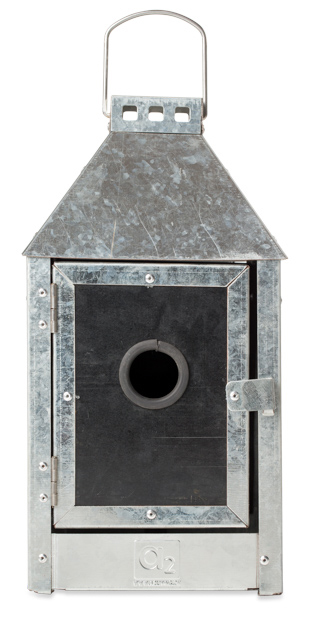 Image of A2 LIVING Birdy Sleep Mini fuglehus - galvaniseret stål (17x33,5)