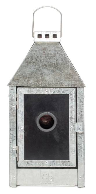 Image of   A2 LIVING Birdy Sleep Wall fuglehus - galvaniserede stål (17x36,5)