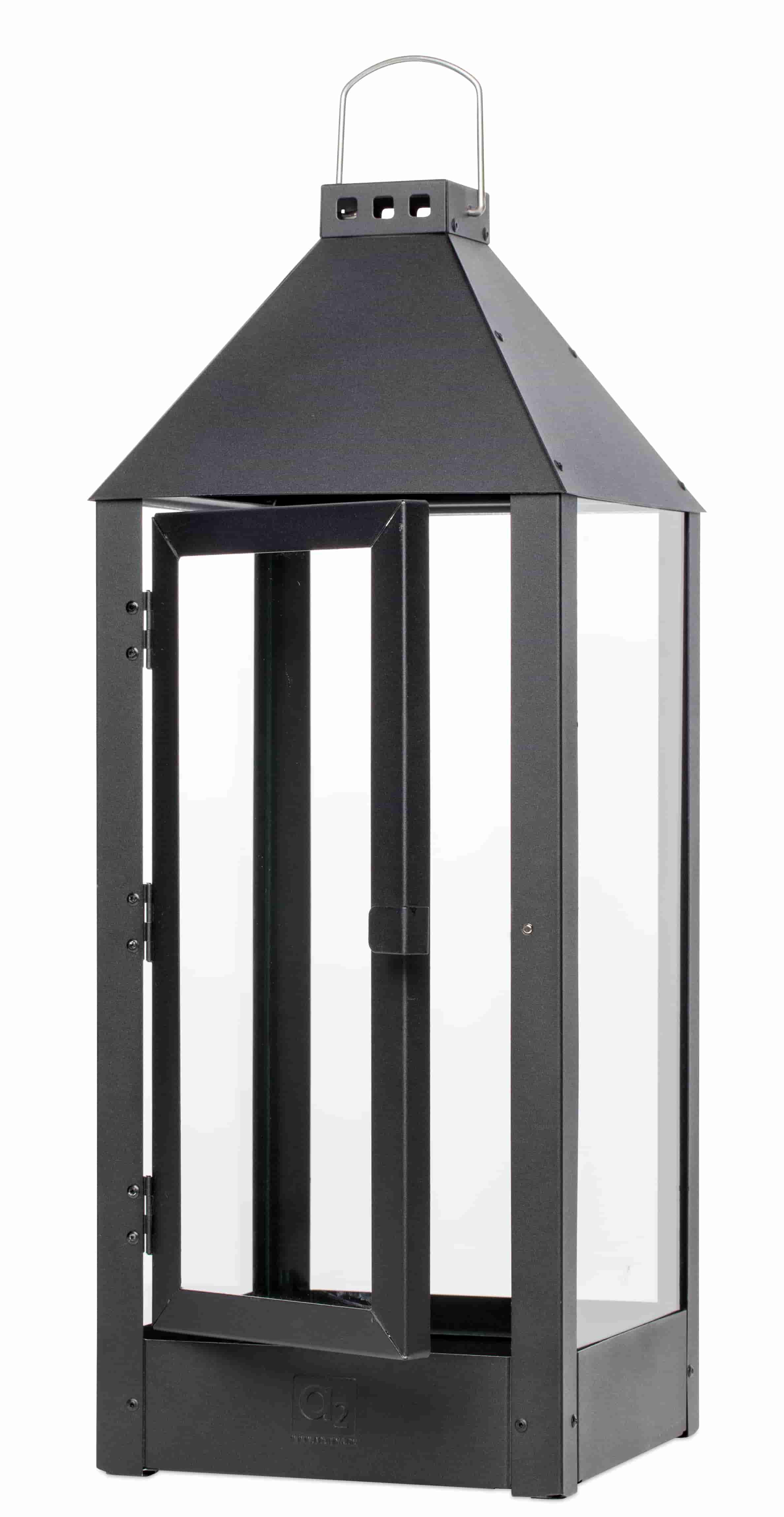 a2 living – A2 living maxi lanterne - mat sort, galvaniserede (22,5x60) fra boboonline.dk