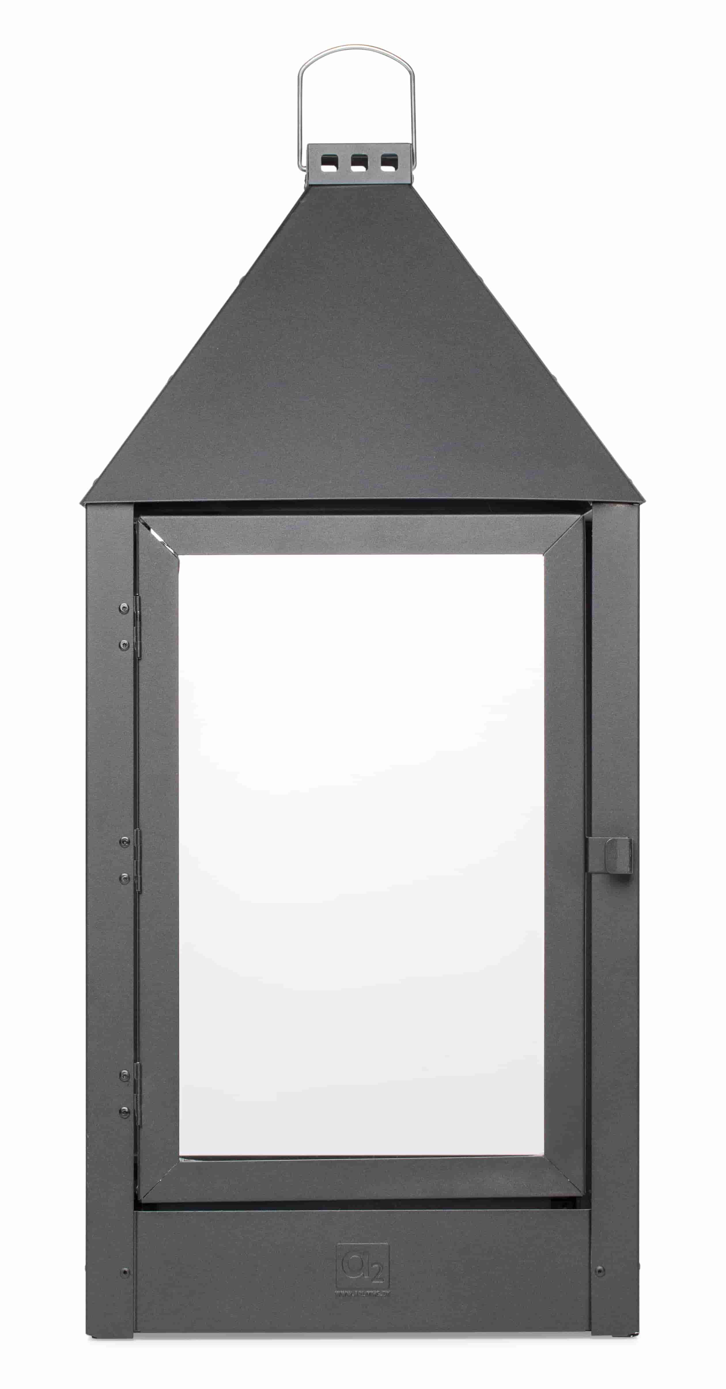 Image of   A2 LIVING Mega lanterne - mat sort, galvaniserede (32x70)