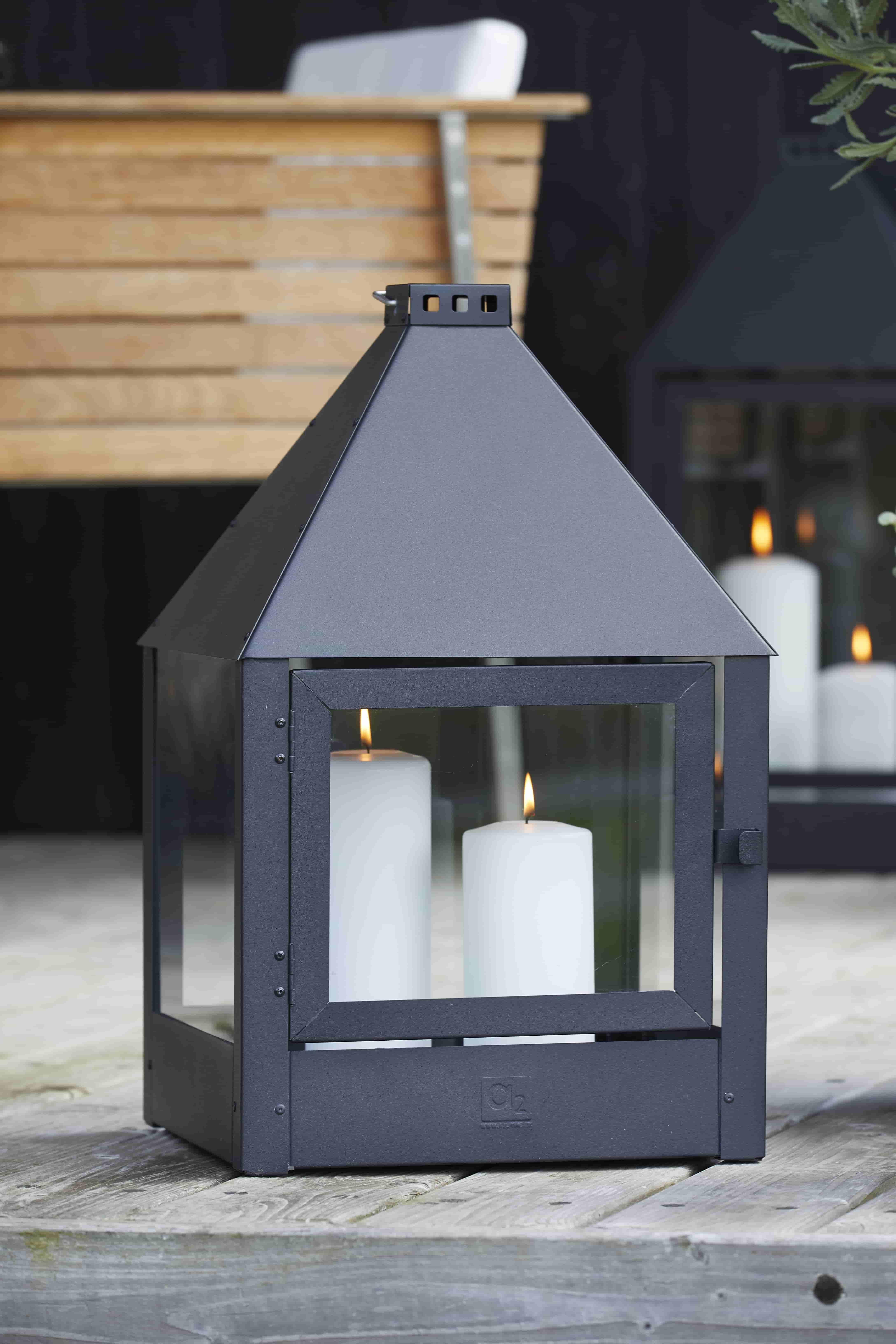 A2 living mega quadro lanterne - mat sort, galvaniserede (32x52) fra a2 living fra boboonline.dk