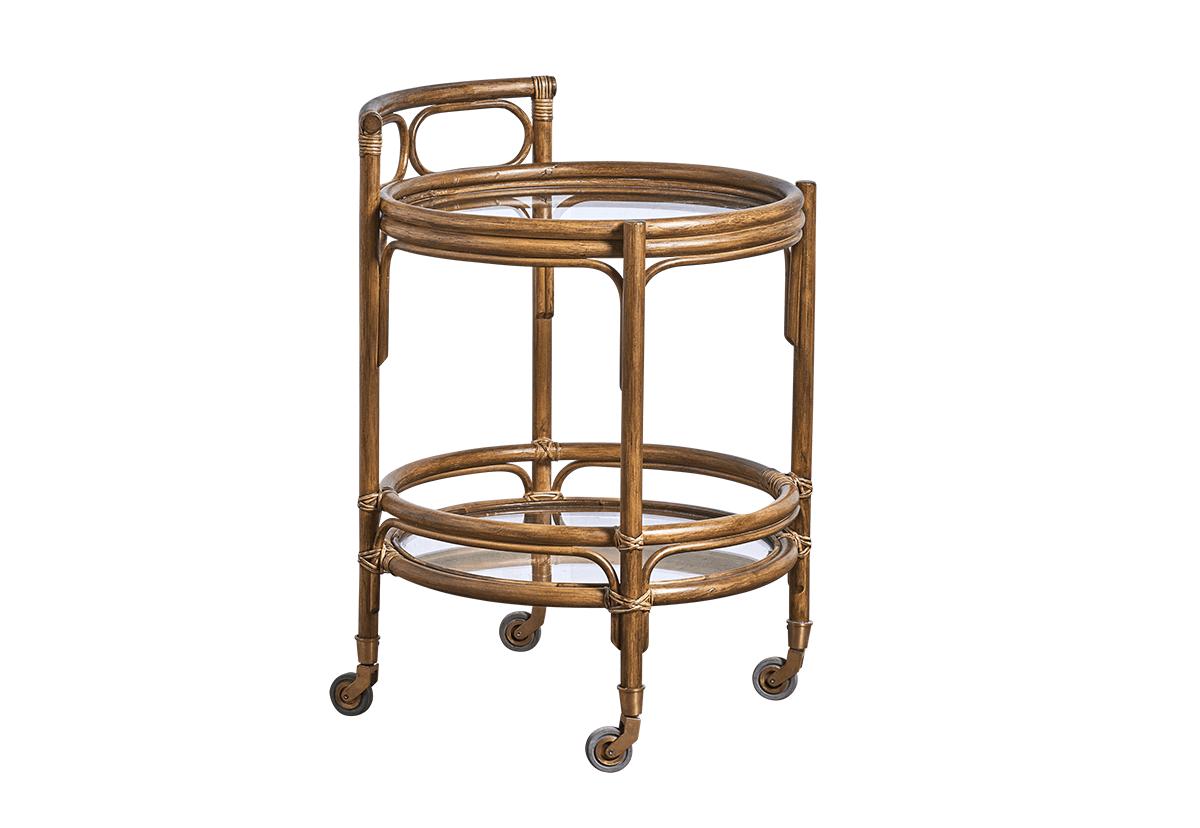 sika design Sika design romeo rullebord - antik træ, m. hjul, rundt (ø:49) på boboonline.dk