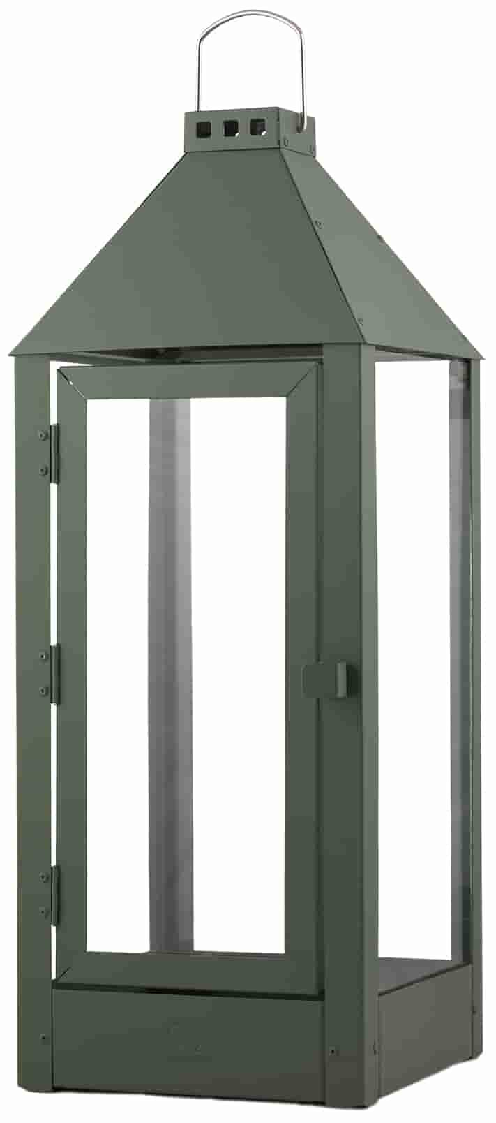 Image of   A2 LIVING Maxi lanterne - olivengrøn, galvaniserede (22,5x60)