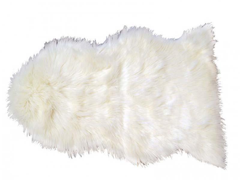 Billede af deko skind, hvid