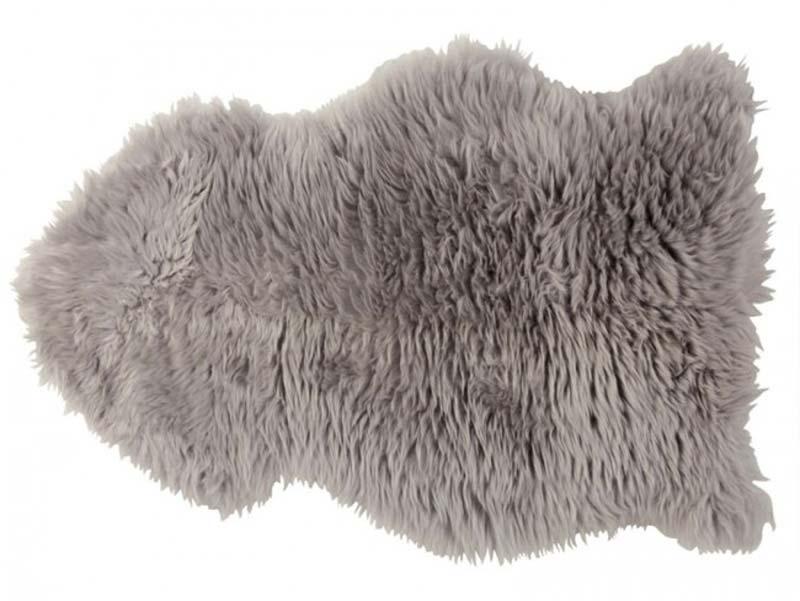 Billede af deko skind, lysegrå