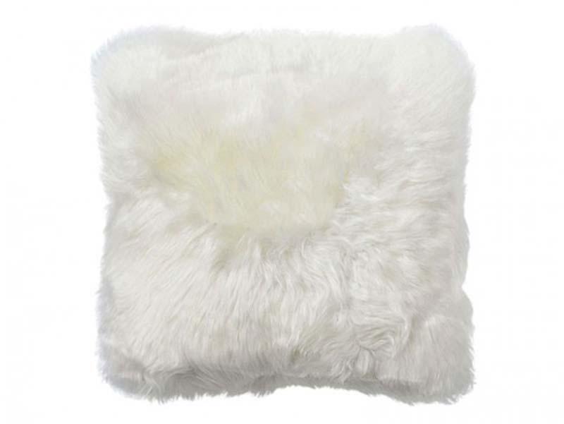Image of   New Zealand lammeskinds pude, hvid, 50cm.