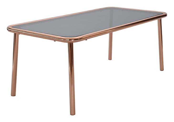 Rge basic sofabord - grå glas, rektangulær, (48x60x120cm) fra rge fra boboonline.dk