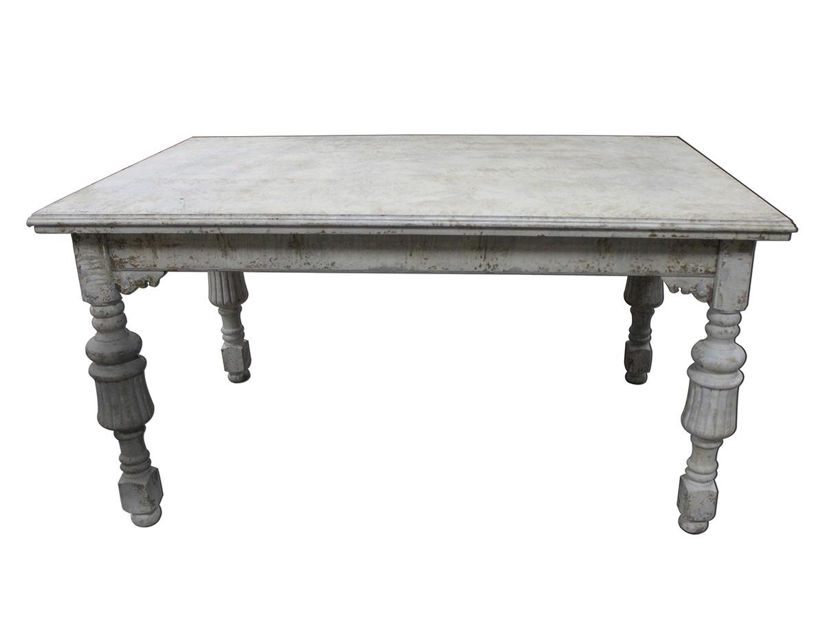 Billede af Chic Antique Spisebord med udskæringer