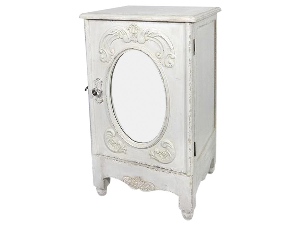 Image of   Chic Antique Skab med spejl og fransk dekor